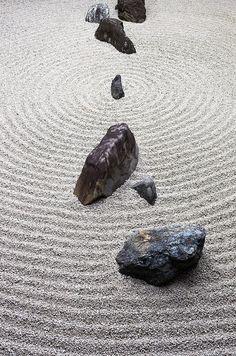 Rock garden at Myōshin-ji Temple, Kyoto, Japan