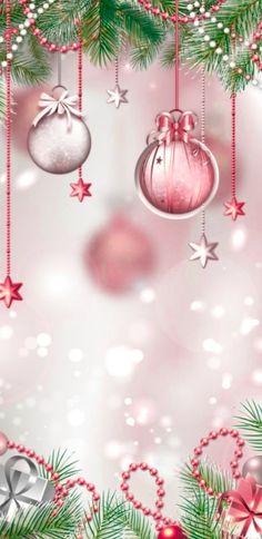 Pink Christmas, Christmas And New Year, Beautiful Christmas, Christmas Bulbs, Christmas Decorations, Holiday Decor, Winter Wallpaper, Christmas Wallpaper, Christmas Lights Background