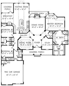 Plan W15723GE: Traditional, Country, Corner Lot, Farmhouse House Plans & Home Designs