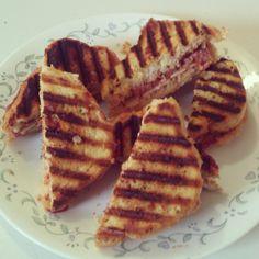 Pepperoni Pizza Paninis on Garlic Toast