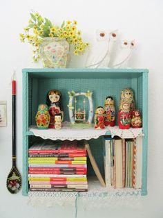 Nesting Dolls, Owls, Turquoise, &  Books