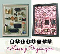 Magnetic Makeup Organizers