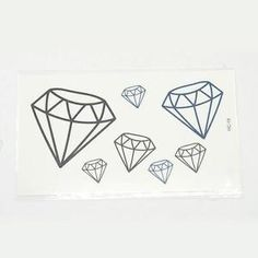 Cool Body Art Diamond Shapes Removable Fake Temporary Tattoos Paper Stickers