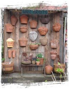 Little Baja is a Terra Cotta wonderland. Our Planters are guaranteed to last as they are the best quality. From Strawberry Jars and Hose Wraps, to Wall Pockets and Sunfaces. Come explore the finest selection of terra-cotta pottery. Garden Wall Art, Backyard Plants, Garden Pots, Garden Fun, Garden Ideas, Vintage Garden Decor, Concrete Garden, Planter Pots, Wall Planters