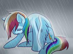 Pony - Broken-Wing Rainbow Dash by Pixel-Prism.deviantart.com on @deviantART
