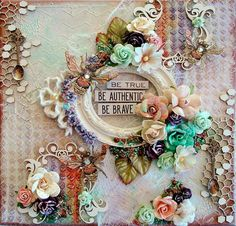 Reneabouquets Design Team Mixed Media Canvas By Artist Phyllis Fernandez using products that you can find at Reneabouquets including RB Exclusive products. Shop here: http://www.Reneabouquets.com
