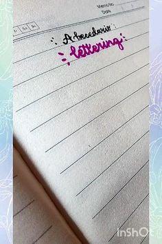 Bullet Journal Banner, Bullet Journal Writing, Bullet Journal Ideas Pages, Bullet Journal Inspiration, Bullet Journal School, Calligraphy Lessons, Calligraphy For Beginners, Calligraphy Tutorial, Hand Lettering Tutorial