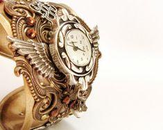 Steam punk Watch Men Women Wrist Watches Bracelet Steam punk Jewelry on Etsy, $246.15 AUD