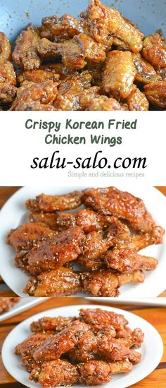 Crispy Korean Fried Chicken Wings - My list of the most healthy food recipes Frango Chicken, Fingers Food, Korean Fried Chicken, Crispy Fried Chicken Wings, Korean Chicken Wings, Japanese Chicken, Best Chicken Wings Recipe Fried, Korean Bbq Wings Recipe, Roasted Chicken
