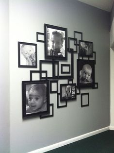 Photo collage made from frames from Walmart! - Home Dekor Frame Wall Decor, Diy Wall Art, Frames On Wall, Empty Picture Frames, Empty Frames, Decoration Entree, Garden Decorations, Diy Home Decor, Room Decor