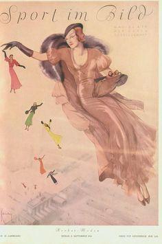 Kenan cover from Sport im Bild Magazine, September, 1931, Weimer Era