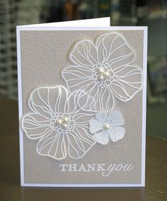 Butterfly instead? May Flowers Embossed Vellum by Paperie Gallery, via Flickr #Vellum #CAS #Embossed