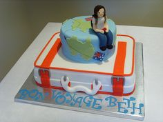 Cake Decorating Ideas Bon Voyage : 1000+ images about Farewell Cakes on Pinterest Farewell ...