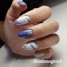 #naildesign #nailart #marblenailart