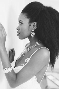 Beautiful natural hair bride style!