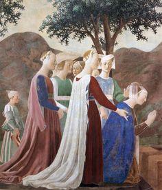 Piero della Francesca c. 1452-1456 Procession of the Queen of Sheba (detail)
