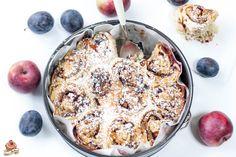 Hol dir das Rezept für diese wunderbaren Germteigschnecken mit Äpfel, Zwetschken und Nüssen bei mir am Blog! Acai Bowl, Muffin, Breakfast, Blog, Bakken, Harvest Season, Food Food, Recipes, Thermomix