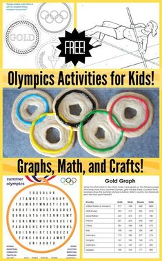 Olympics Kids Activities, Olympic Games For Kids, Kids Olympics, Sports Activities For Kids, Summer Camp Activities, Stem Activities, Summer Olympics, Olympic Idea, 2020 Olympics