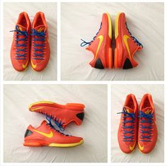 Nike KD V Elite Team Orange Tour Yellow Total Orange Photo Blue