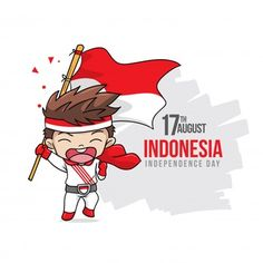 Happy indonesia independence day with happy kids Premium Vector Independence Day Greeting Cards, Independence Day Background, Sunday School Crafts For Kids, Diy For Kids, Marvel Wallpaper, Galaxy Wallpaper, Indonesian Independence, Sword Art Online Wallpaper, Cute Guinea Pigs