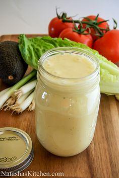 Ceasar Dressing Recipe. No anchovies so it's vegetarian friendly.