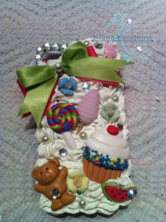 Cell Phone Case Decorated www.facebook.com/kiana.kreations