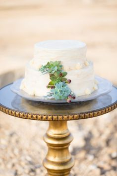Succulent decorated: http://www.stylemepretty.com/wisconsin-weddings/2015/04/17/rustic-chic-desert-elopement-inspiration/   Photography: Maison Meredith - http://www.maisonmeredith.com/