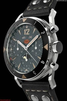 TNT Challenger Black Luna Watch: Something Old, Something New, Something Awesome watch releases Fine Watches, Sport Watches, Cool Watches, Watches For Men, Stylish Watches, Casual Watches, Luxury Watches, Something Old, Mens Clothing Styles