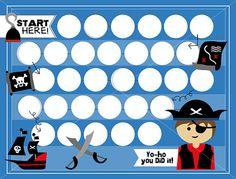 Pirate Kids Reward Chart Instant Download by keylimedd on Etsy