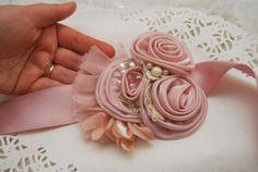 Bridal Belt Wedding Sash Bridal Sash Blush by BridalBlushChampagne