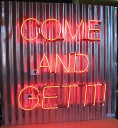 neon on currogated metal - Google Search