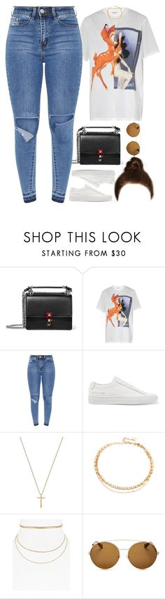 """""""21.05.17"""" by jamilah-rochon ❤ liked on Polyvore featuring Fendi, Givenchy, Common Projects, Gucci, Jules Smith and Aqua"""