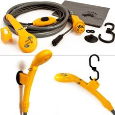 Portable shower system - 12V electrical pump - Camping - Car washing- Outdoor dog cleaning