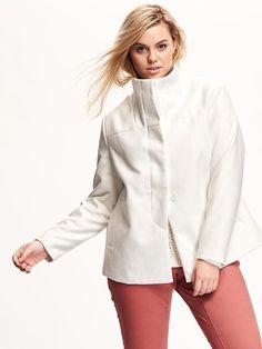 $69.94 Funnel-Neck Plus-Size Jacket