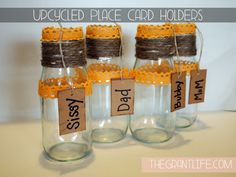 The Grant Life: Starbucks Bottle Place Card Holders