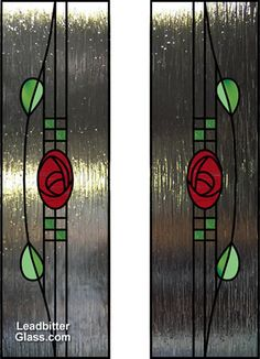 Charles Rennie Mackintosh definetly superby beautiful and if ever getting new doors in house this will be on them without a doubt. Stained Glass Door, Stained Glass Flowers, Stained Glass Designs, Stained Glass Panels, Stained Glass Projects, Stained Glass Patterns, Leaded Glass, Mosaic Glass, Charles Rennie Mackintosh