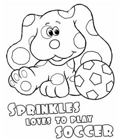 blue and sprinkle coloring pages | Blues Clues Color Page | Daryn's B-day Stuff | Pinterest ...