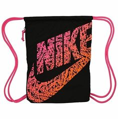 Drawstring Nike Bag Hot pink & blue nike drawstring bag. Can trade ...