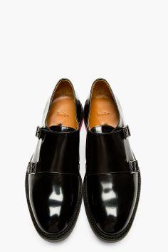 PAUL SMITH Black Monk Strap Pitt Shoes