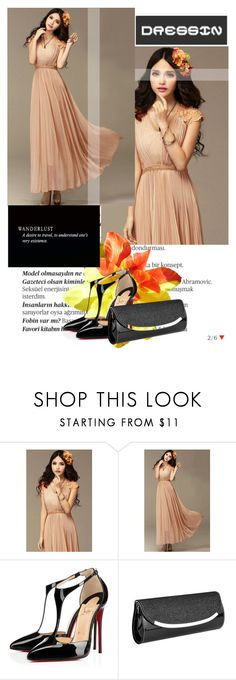 """DRESSIN 26"" by amila-338 ❤ liked on Polyvore featuring moda, Balmain, Christian Louboutin, Vera Wang, vintage e dressin"