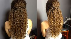Curly hair braids and updos