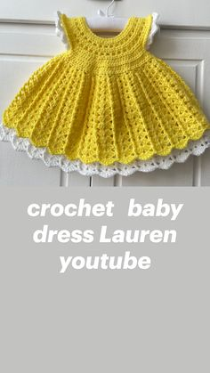 Crochet Summer Hats, Crochet Bebe, Crochet Dolls, Easy Crochet, Knit Crochet, Crochet Toddler, Crochet Baby Clothes, Crochet For Kids, Toddler Dress