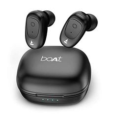 boAt Airdopes 201 True Wireless Earbuds with BT IPX 4 Sweat and Water Resistance, in-Built Mic with Voice Assistant (Active Black) Gifts For Your Boss, Bluetooth Earbuds Wireless, Best Headphones, Gaming Headset, Boat, Stuff To Buy, Nirvana, Coupons, 9 Hours