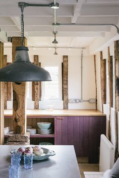 The Sebastian Cox Kitchen by deVOL, stained with a beautiful Lavender dye