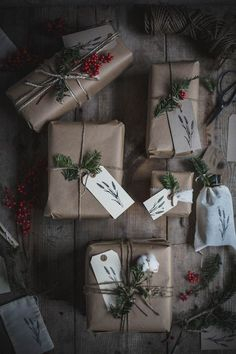 Get in the holiday spirit! As you're buying gifts, add a personal touch with Unique 50 Christmas gift wrapping ideas! Upcycled Kraft Paper Gift Wrapping Ideas From: The Found and The Fancy How to P… Noel Christmas, Perfect Christmas Gifts, Little Christmas, Rustic Christmas, All Things Christmas, Winter Christmas, Christmas Crafts, Christmas Decorations, Christmas Books