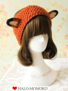 Knitted headband with standing ears #asianicandy #headband #easycostume