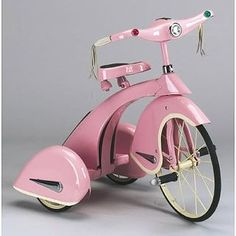 Old Time Pink Tricycle FROM: http://media-cache-ec0.pinimg.com/originals/d4/f8/93/d4f893c3c5f890015a30c4cdb9a1691b.jpg