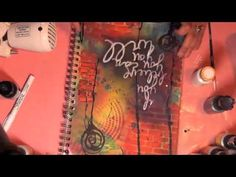 Art Journal Page - Using Lindys Stamp Gang & Crafters Workshop Templates