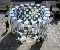 'Ring' Mirror Installation by artist Arnaud Lapierre is an amazing sculpture installed at the Place Vendôme, Paris back in 2011. It was a commercial collaboration with AUDI as part of FIAC (Foire Internationale d'Art Contemporain) An amazing design that we think would work in so many different spaces