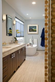 Contemporary Eclectic Master Bath Remodel: Dresher, PA - eclectic - bathroom - philadelphia - by HomeTech Renovations, Inc.